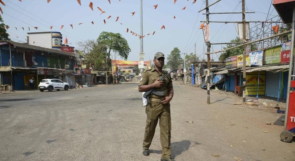 Curfew was imposed after two groups clashed in Rajasthan's Banswara district.