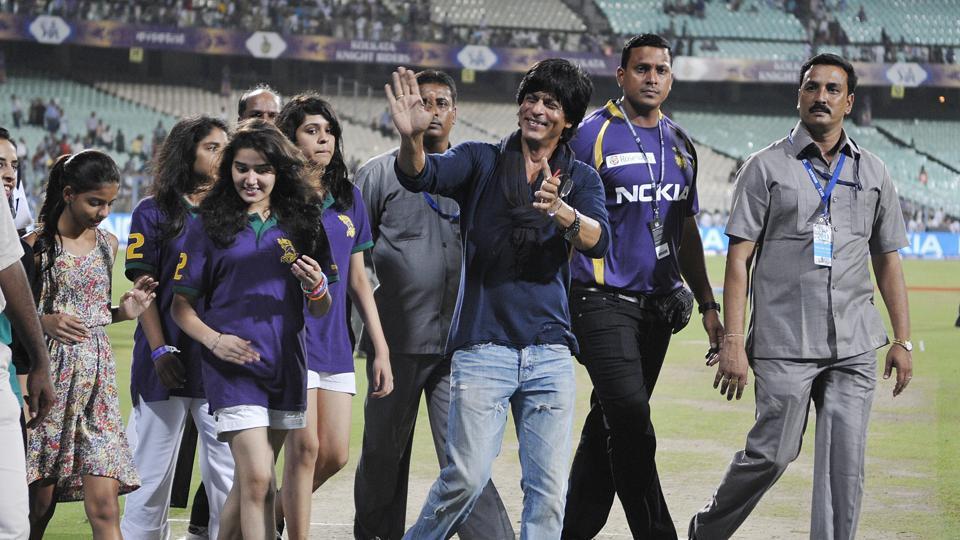 Shah Rukh Khan during Kolkata Knight Riders (KKR) vs Rajasthan Royals (RR ) match during Indian Premier League (IPL) 2013 . At Eden Gardens, Kolkata.