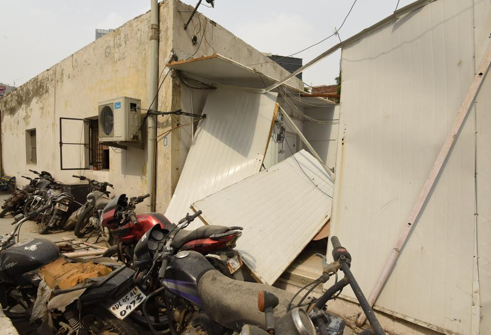 Property worth Rs 5-6 lakh has been destroyed, officials estimated.