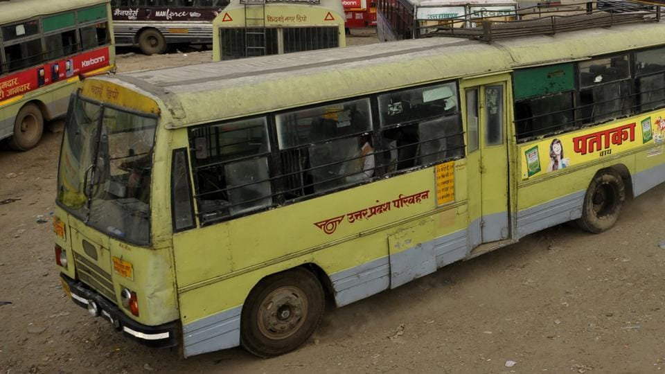 A bus came in contact with a high tension wire in Uttar Pradesh's Shahjahanpur.