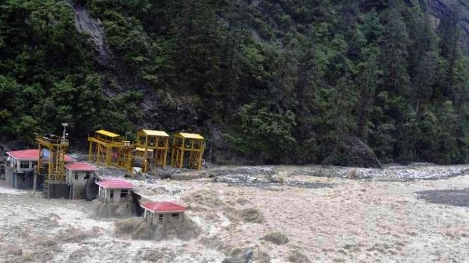 A view of Vishnuprayag Hydropower project on River Alaknanda in Chamoli district that was damaged in 2013 but was later restored.