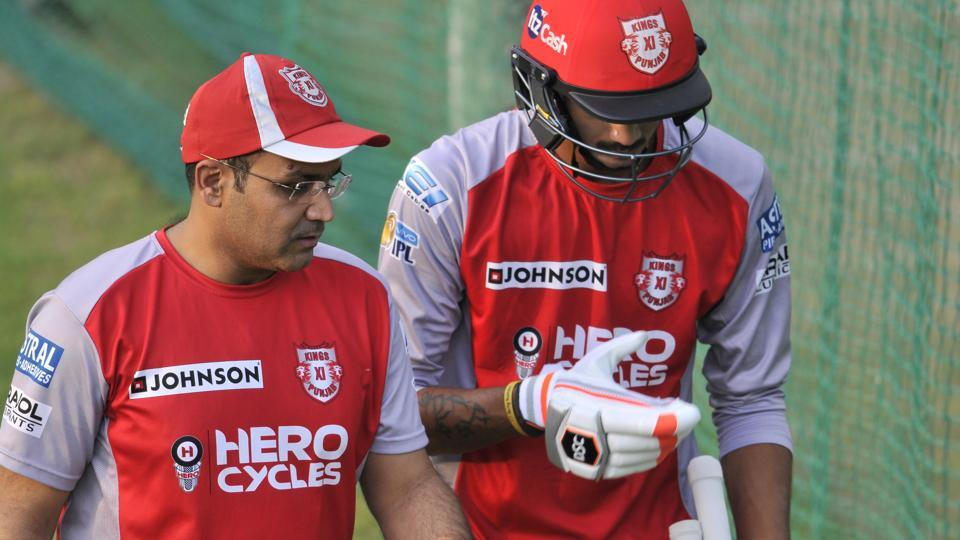 Virender Sehwag is the coach of Kings XI Punjab in this year's Indian Premier League.