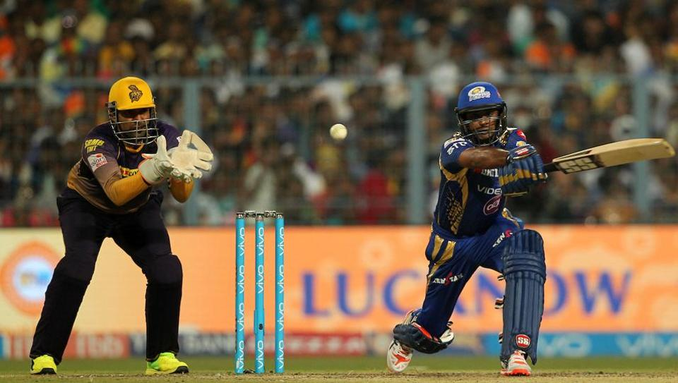 Ambati Rayudu of the Mumbai Indians scored a half-century in their 2017 Indian Premier League match against Kolkata Knight Riders at the Eden Gardens in Kolkata on Saturday.