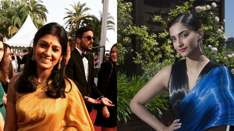 Sari,Cannes,Sonam Kapoor