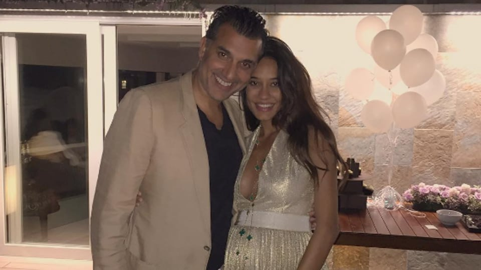 Lisa Haydon and Dino Lalvani are expecting their first child.