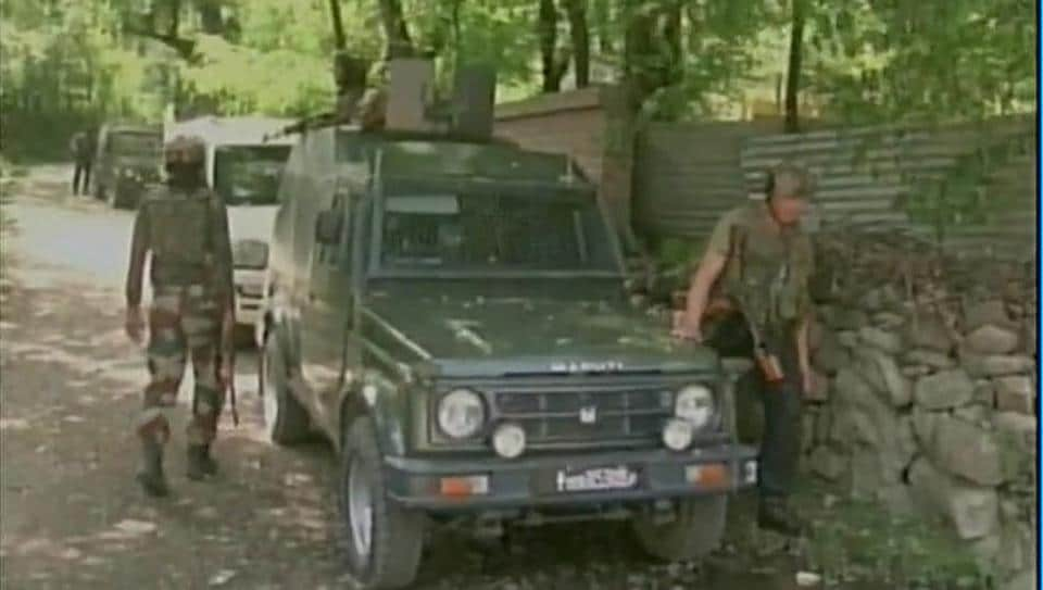 Militants fired at a team of security forces in Tral in Kashmir.