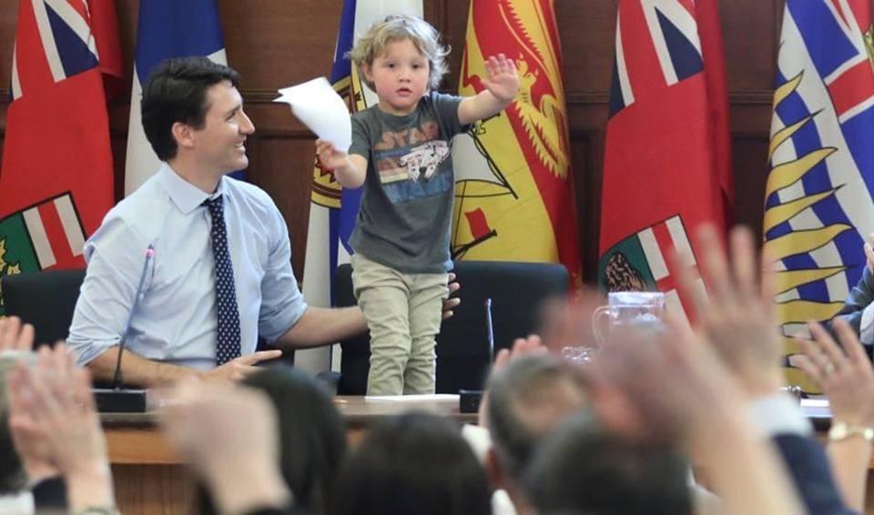Justin Trudeau,trudeau son,trudeau hadrien
