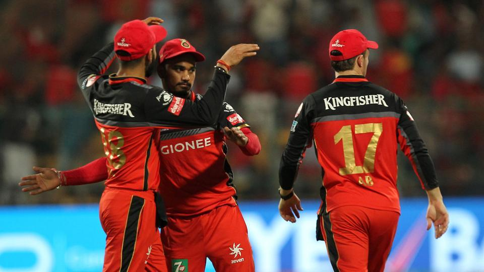 Pawan Negi (centre) has been a bright spot in Royal Challengers Bangalore's disastrous campaign in Indian Premier League (IPL) 2017.