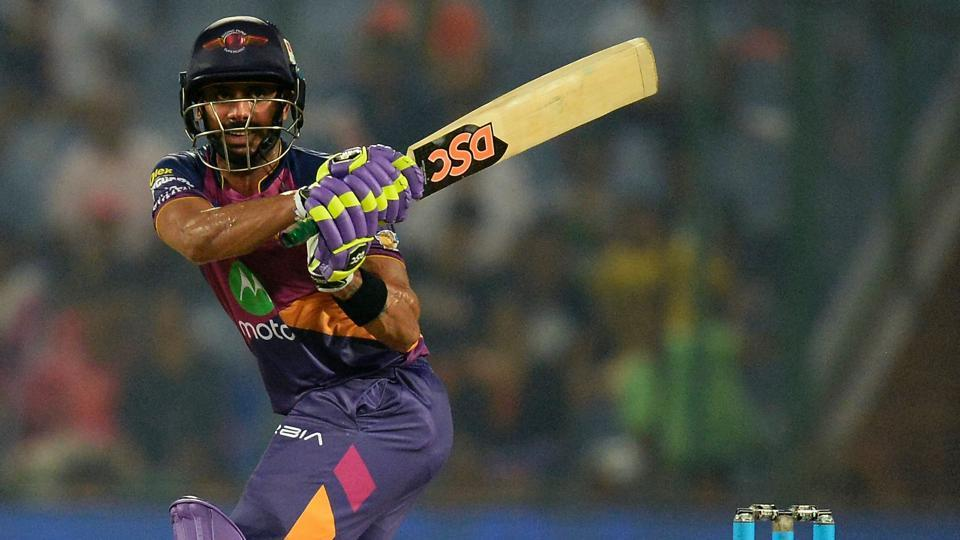 With boundaries drying up for Rising Pune Supergiant (RPS)following the departure of MSDhoni (not in picture), Manoj Tiwary who ended up as top-scorer, went for premeditated swings, eventually getting clean bowled by DelhiDaredevils' Pat Cummins during their Indian Premier League (IPL)match on Friday.