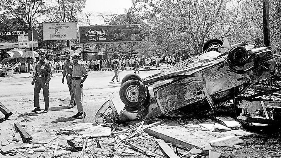 Handiwork of the ISI: The serial bomb blasts in Bombay on 13 March, 1993 that left 257 people dead.