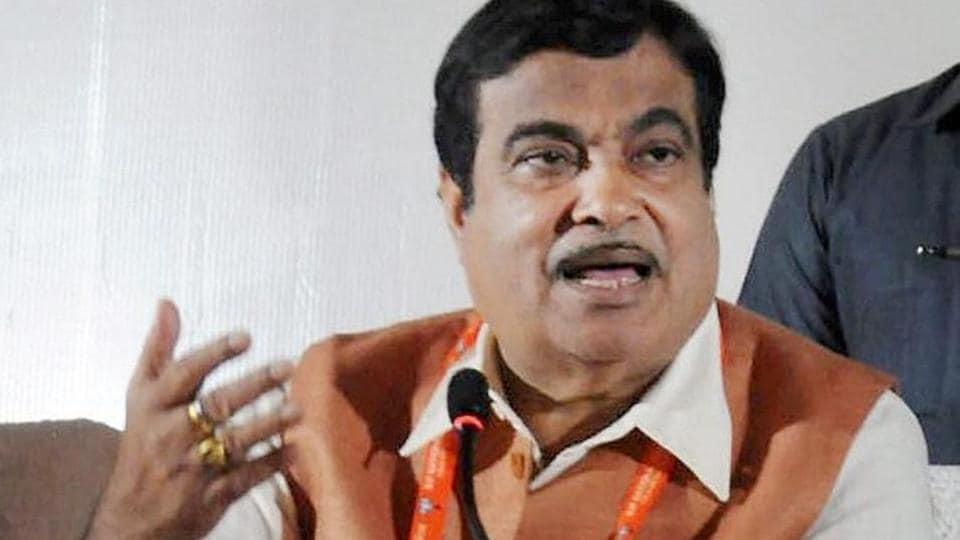 Union Transport minister Nitin Gadkari addressing media in Bhubaneswar.