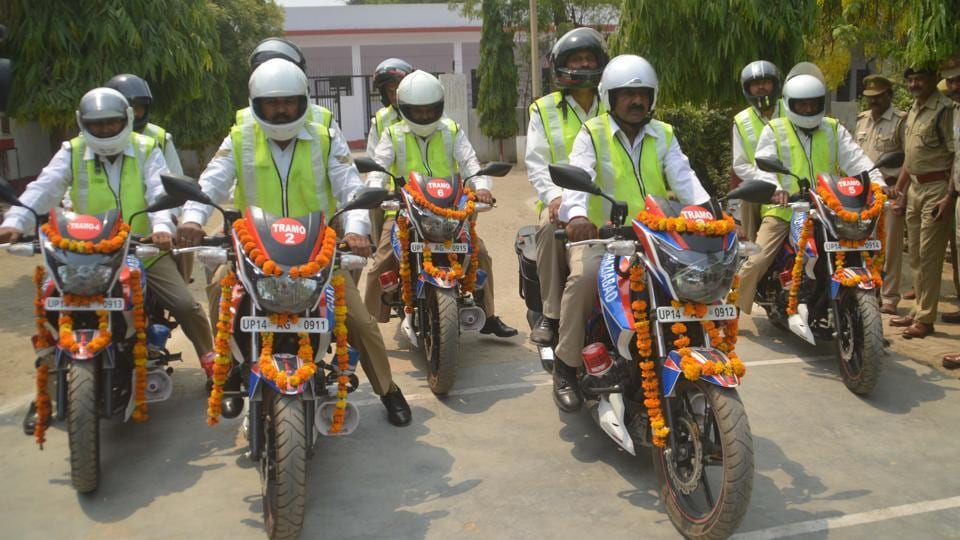 The six bikes, which include Apache and Pulsar, were from the 80 received by the Ghaziabad police after the new government assumed office.