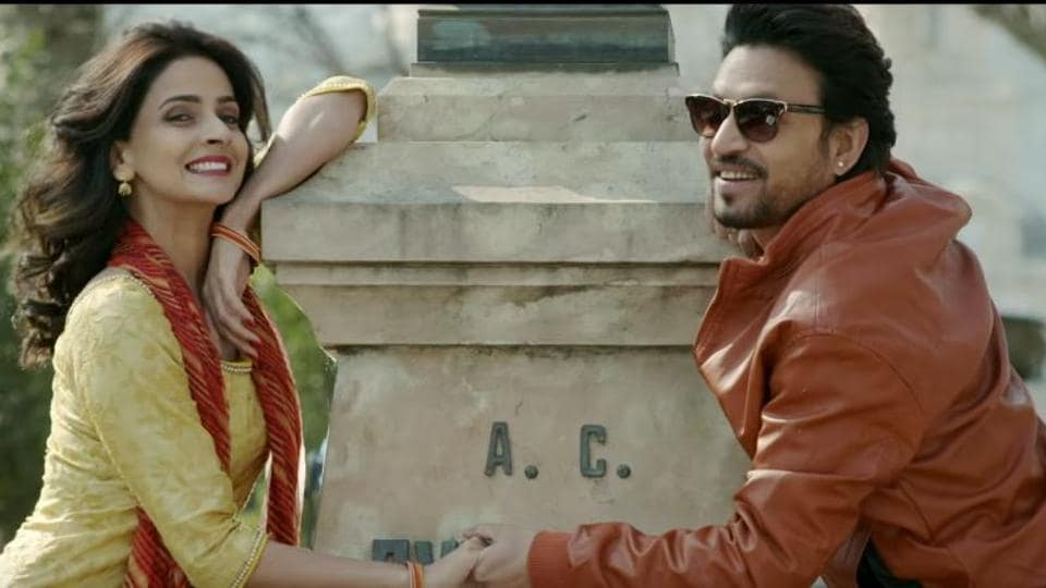Saba Qamar and Irrfan Khan in a still from Hindi Medium.