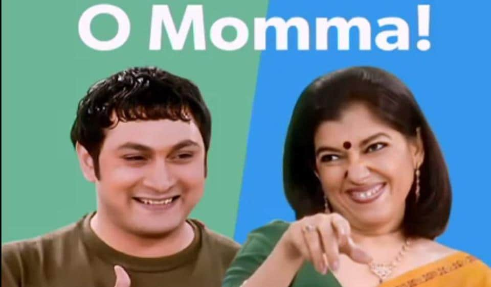 Rajesh Kumar and Ratna Pathak Shah in the Mothers' Day special rap.