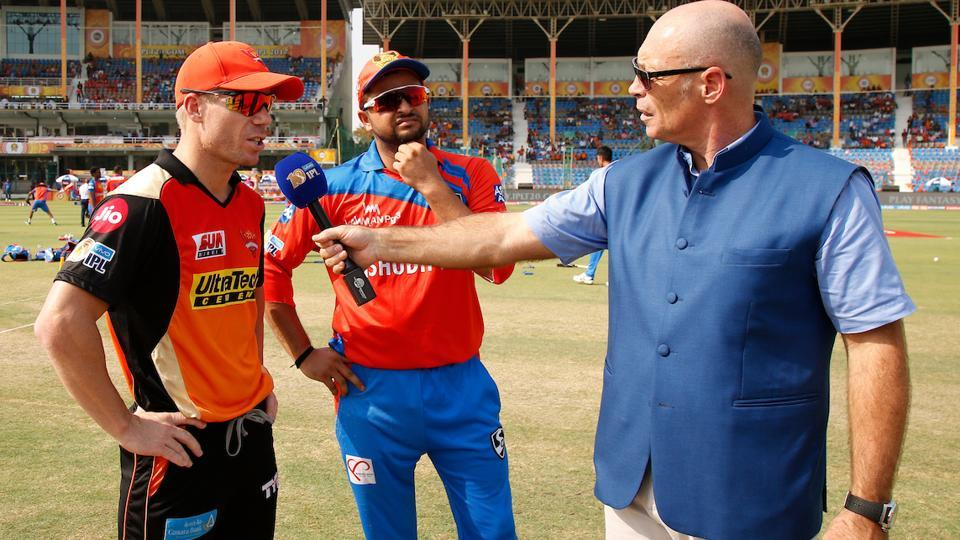 Sunrisers Hyderabad captain David Warner won the toss and opted to field against Gujarat Lions. (BCCI)
