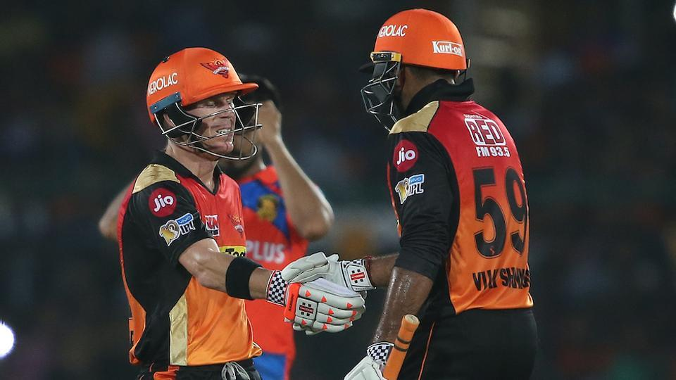 Captain David Warner and Vijay Shankar guided the Sunrisers Hyderabad to an eight-wicket victory against Gujarat Lions in the Indian Premier League at Green Park in Kanpur on Saturday. Get highlights of Gujarat Lions vs Sunrisers Hyderabad here.