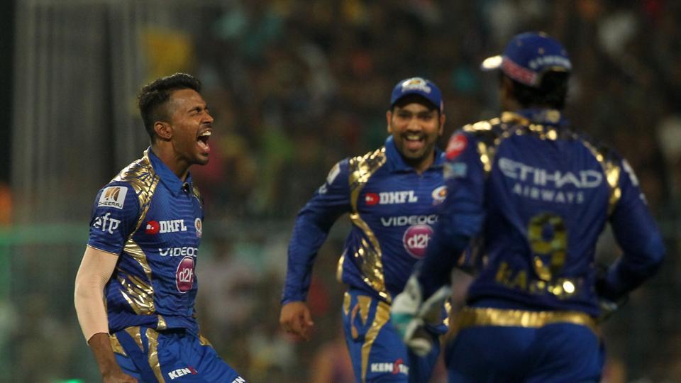 Hardik Pandya's sensational spell of 2/22 helped Mumbai Indians beat Kolkata Knight Riders by nine runs to seal top spot. Despite this loss, Kolkata Knight Riders still qualified for the play-offs. (BCCI)