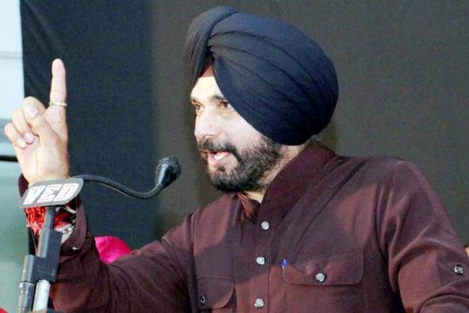Navjot Singh Sidhu was in Batala  to participate in a cultural programme in the memory of noted poet Shiv Kumar Batalvi.
