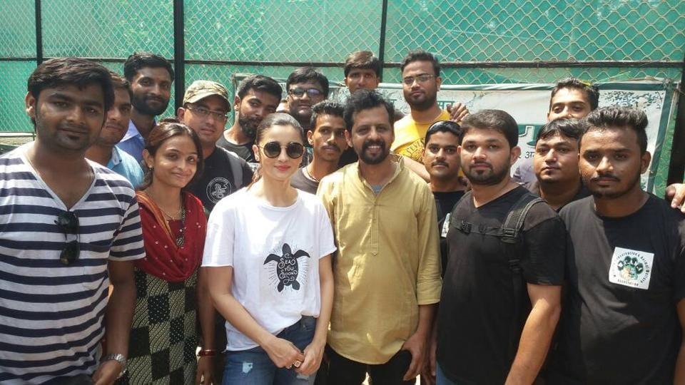 Alia Bhatt at the rescue centre in Mumbai.