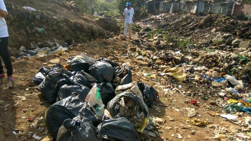 River March carried out the drive at a stretch of the river in Kranti Nagar at Kandivli.