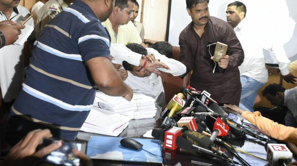 Kapil Mishra fainted immediately after his press conference on revelations on AAP's finances.