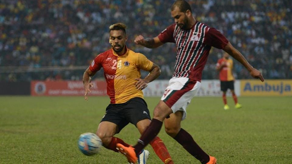 Mohun Bagan defeated East Bengal 2-0 to enter the final of Federation Cup in Cuttack on Sunday.