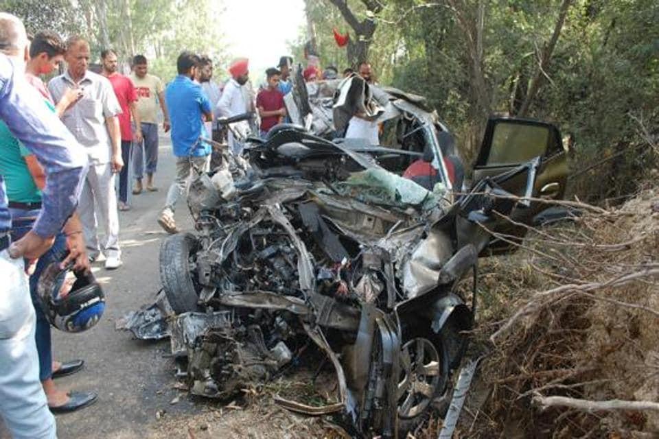 Car Accident Near Hoshiarpur