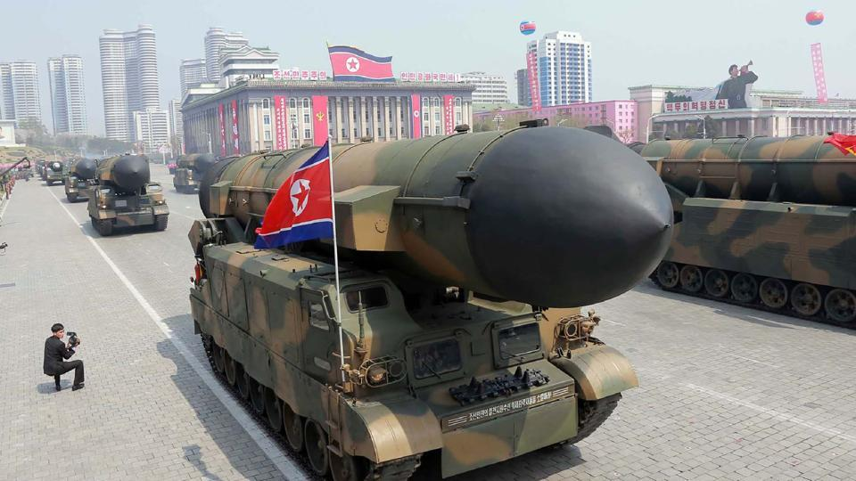 North Korea test-fired a missile from the same city in February with the missile flying more than 500 kilometres.