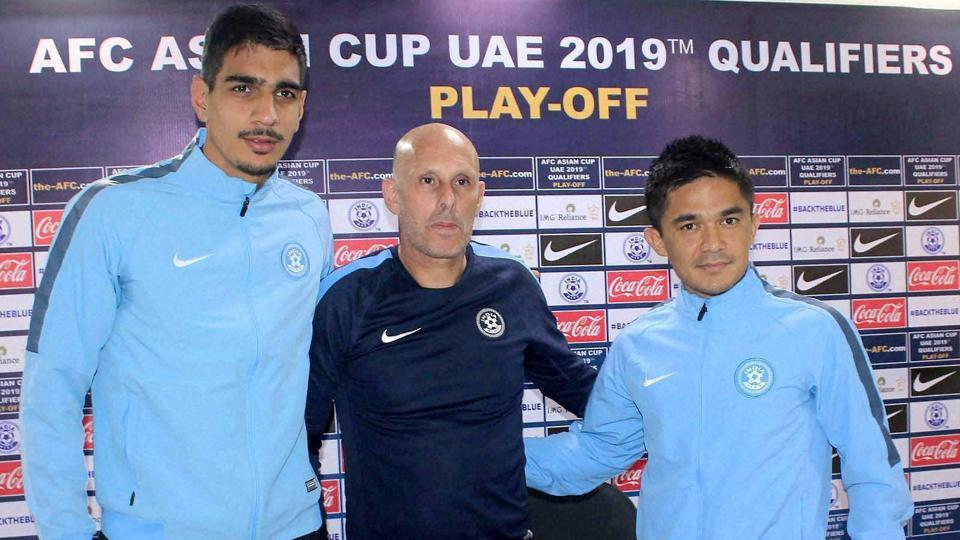 Sunil Chhetri (right) is India's leading striker and is a crucial cog in the wheel in Stephen Constantine-coached national football team.