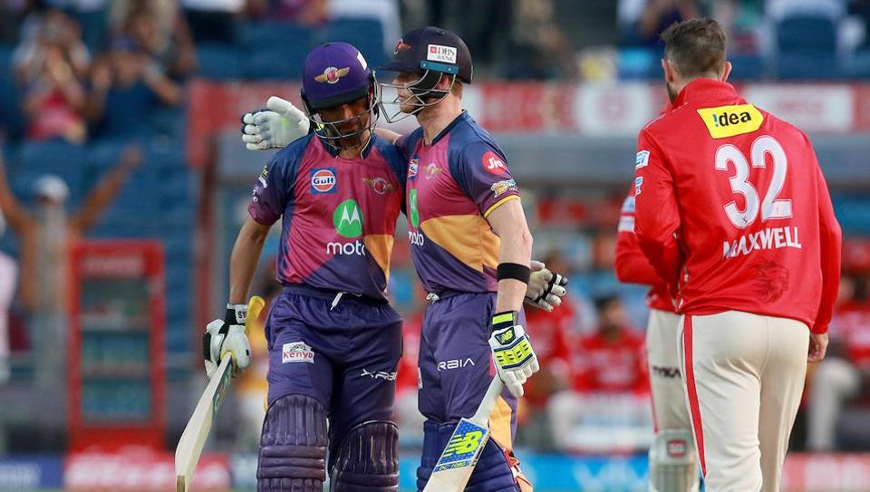 Rising Pune Supergiants earned a comprehensive nine wicket win to beat Kings XIPunjab and enter the Indian Premier League playoffs in Pune on Sunday. (BCCI)