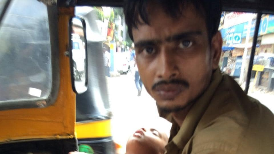 Autorickshaw driver Mohammad Saeed.