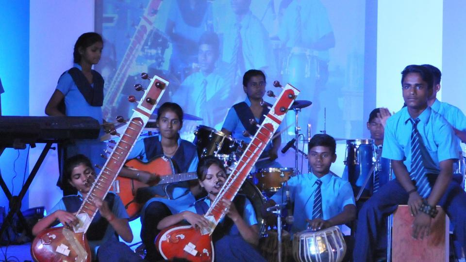 Prayaas performs at HT Woman Awards 2017 in Lucknow on Sunday.