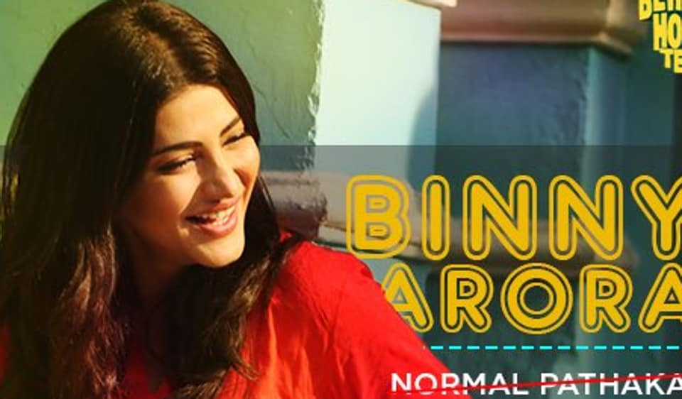 Actor Shruti Haasan plays a Punjabi girl  in the upcoming film Behen Hogi Teri. She put on several kilos for the role.