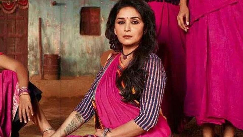 Madhuri Dixit in a still from Gulaab Gang.