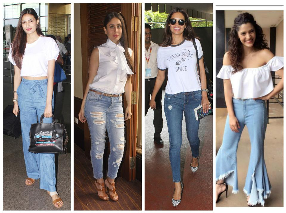 Bollywood divas wear different styles of denims.