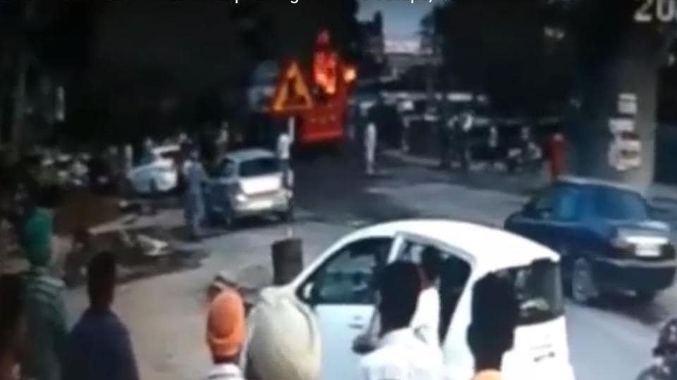 Bathinda bus,bus on fire,horrific footage