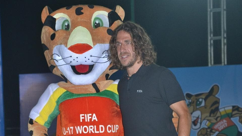 Former Spanish football great Carles Puyol launched the ticket sales for the FIFA U-17 World Cup that will be held in India later this year.