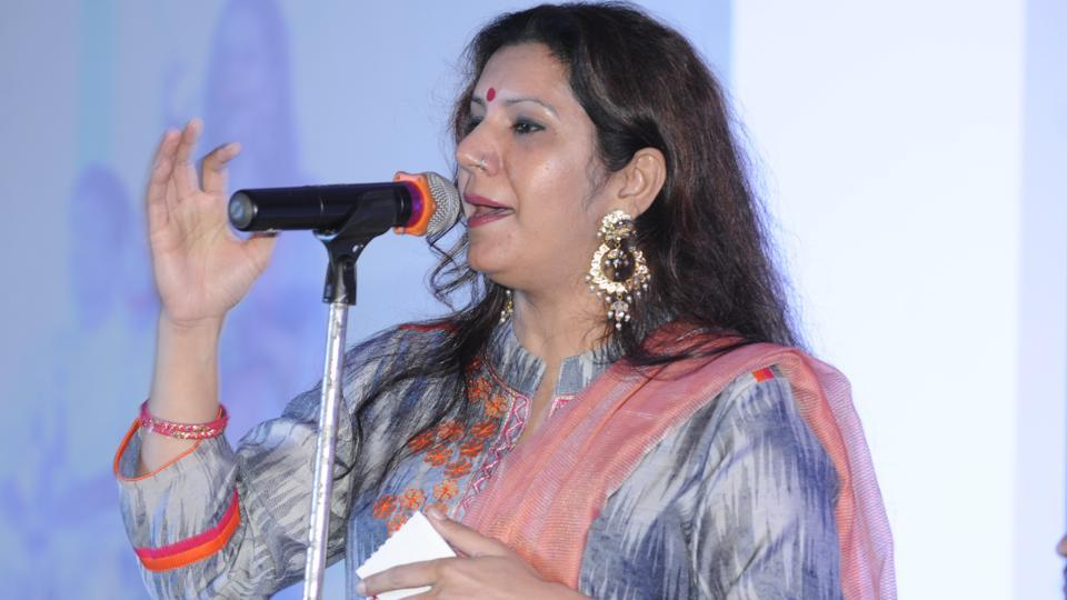 Malvika Hariom performing at HT Woman Awards in Lucknow on Sunday.