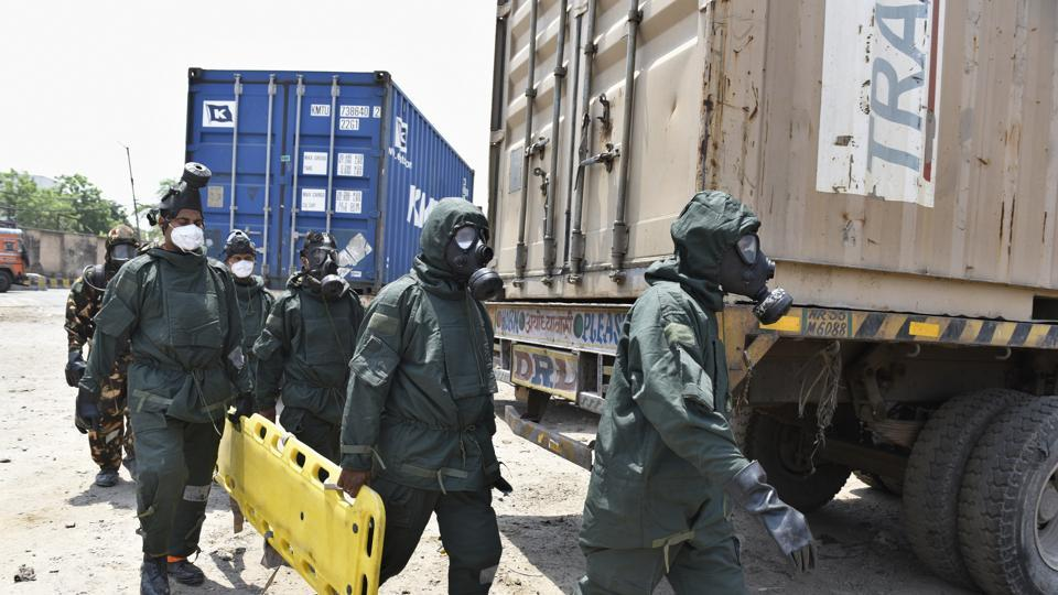 Tughlaqabad,Chemical spill,Container depot