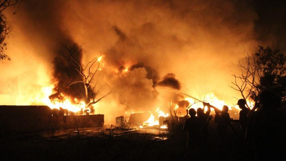 Fire at paint unit,Ghaziabad fire,all-night fire