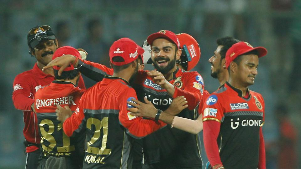 Virat Kohli finally had something to smile for as Royal Challengers Bangalore secured a 10-run win over Delhi Daredevils in the final league game of IPL2017. (BCCI)