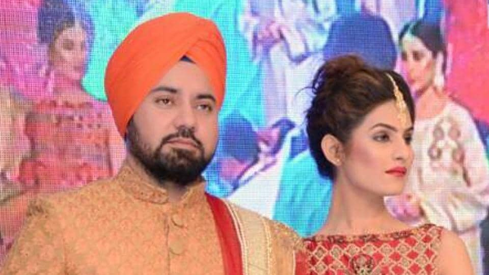 Model Taranjeet Singh, attired as a Sikh bridegroom, at an event in Lahore.