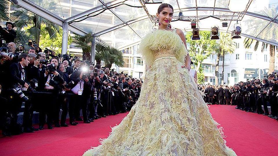Sonam Kapoor at the 2015 Cannes Film Festival.
