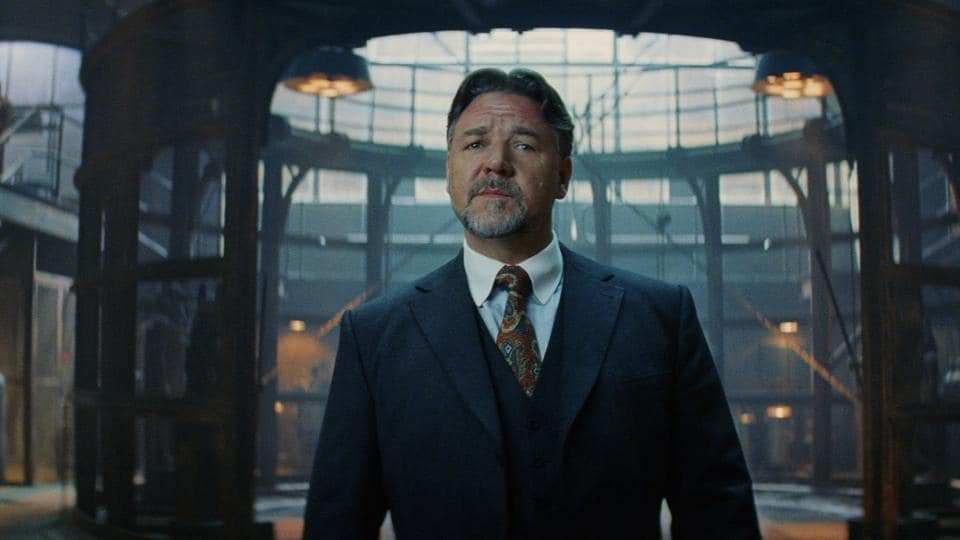 Russell Crowe in a still form the latest featurette of The Mummy reboot.