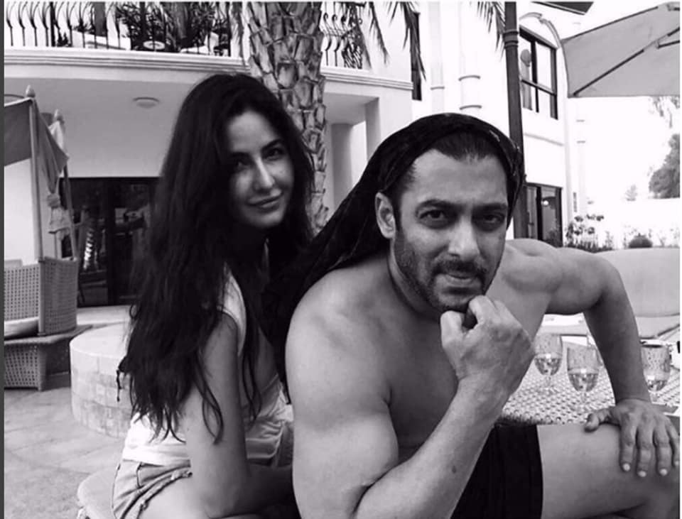 Actor Katrina Kaif posted a picture with Salman Khan on Instagram on Tuesday.