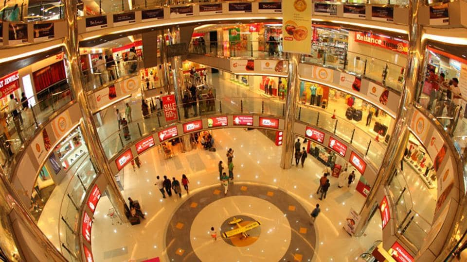A fire broke out at the fourth floor of Oberon Mall in Kochi.