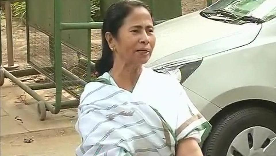 West Bengal chief minister Mamata Banerjee leaves 10, Janpath, the residence of Congress president Sonia Gandhi, after a meeting on Tuesday.