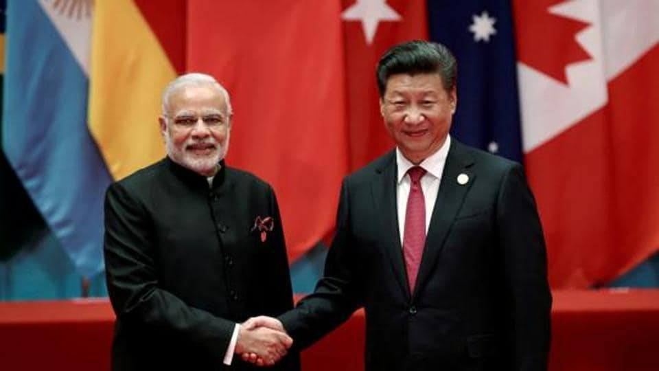 Chinese President Xi Jinping shakes hands with Prime Minister Narendra Modi at a meeting in Hangzhou in China in September  2016.
