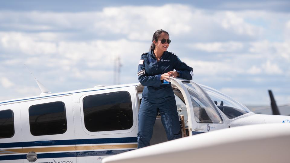 Female Afghan pilot aims to make historic solo round-the-world flight