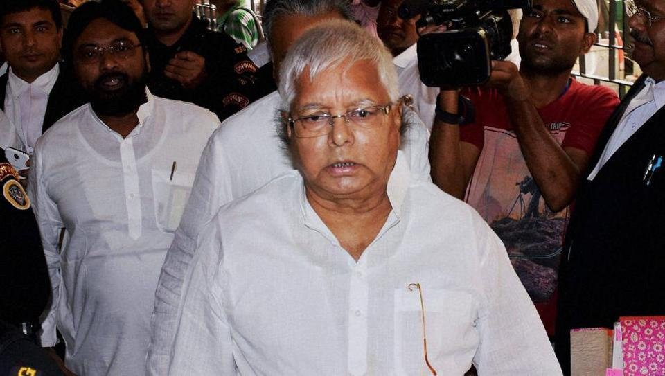 The Income Tax department searched RJD chief Lalu Prasad's residences in Delhi.